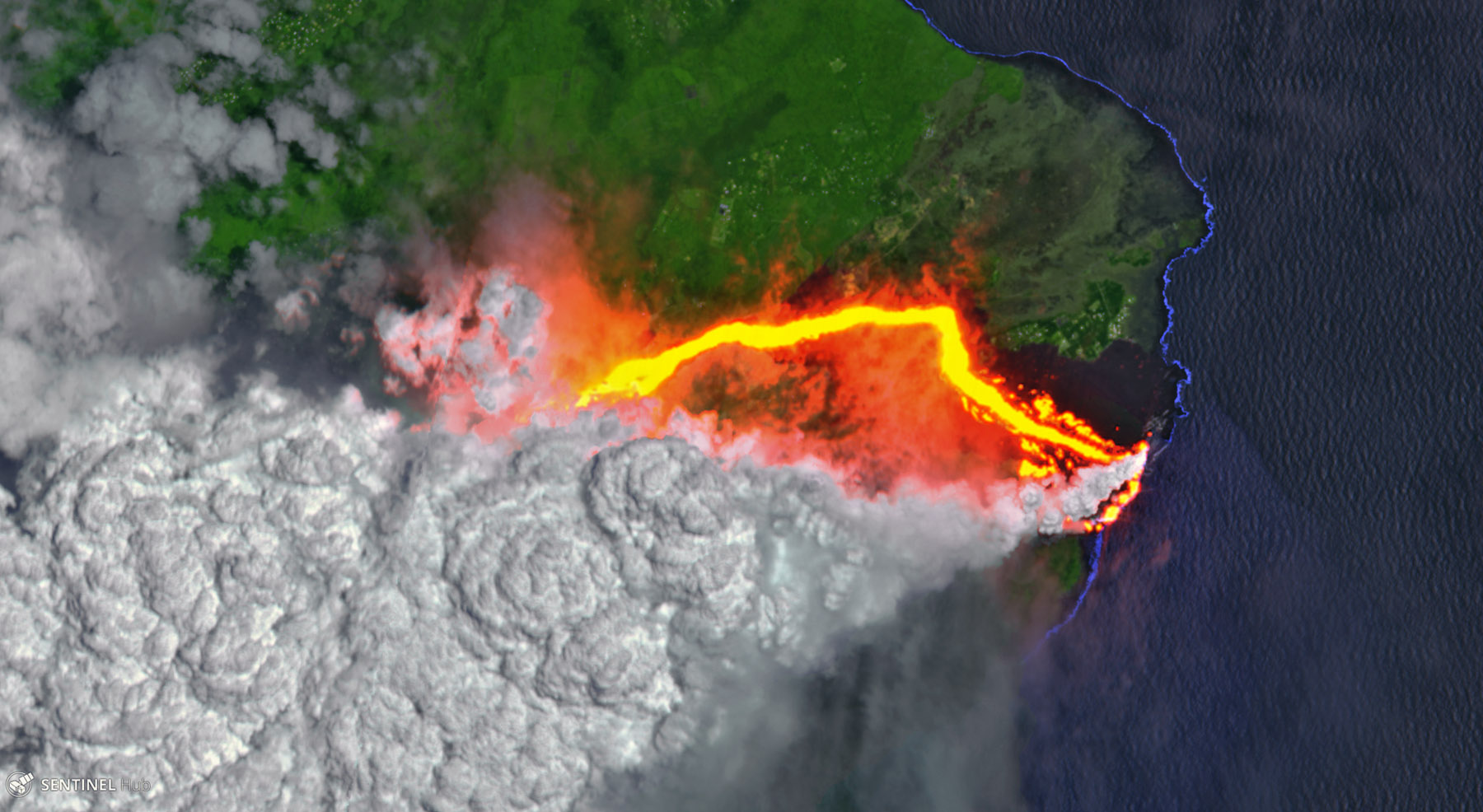 The Drama And Fury Of Kilauea S Volcano From Space