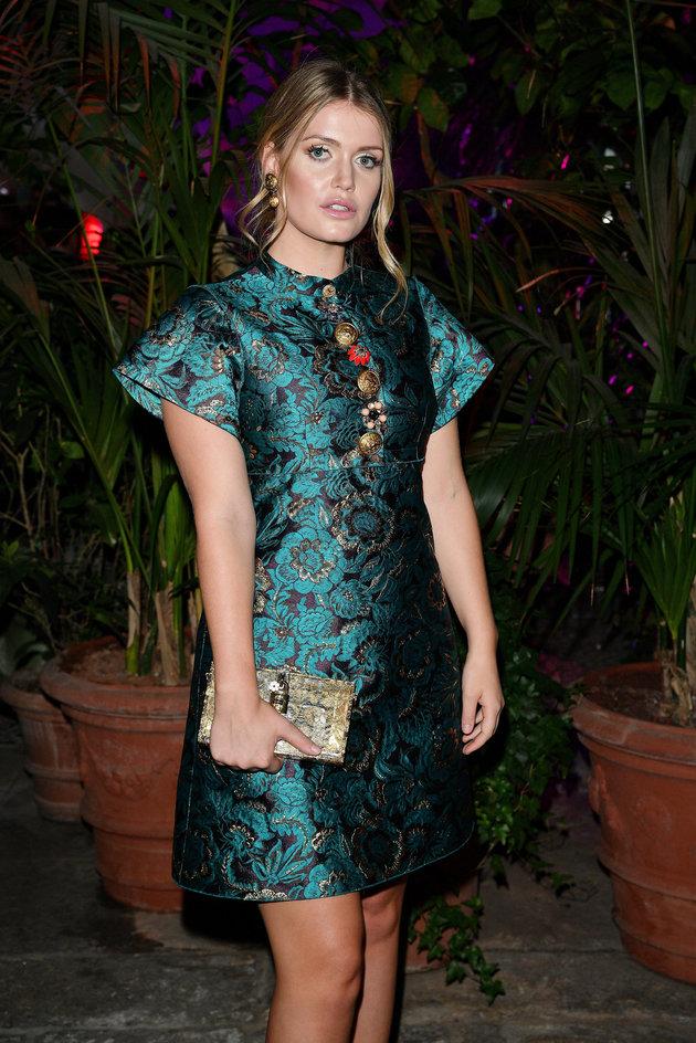 Kitty Spencer au défilé Queen of Hearts Party pendant la semaine de la mode de Milan le 24 septembre...