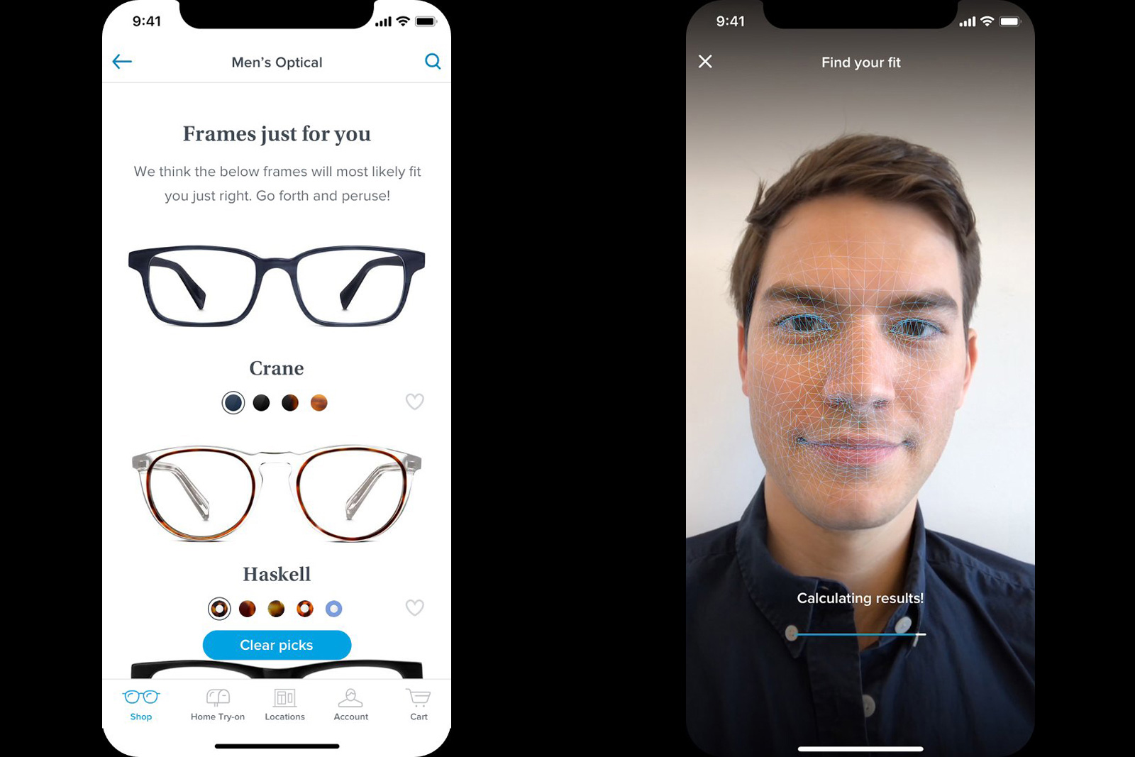 970d0cf889 Warby Parker recommends glasses using your iPhone X s depth camera