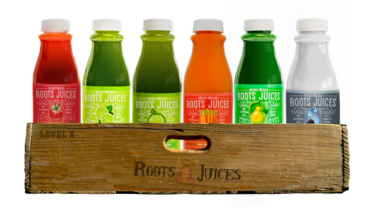 Roots Juices pressed juice cleanse