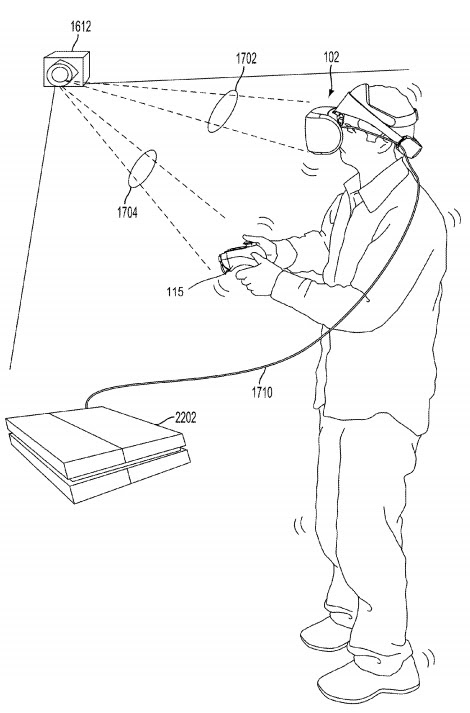 Sony files patent for Vive-style PSVR tracking device