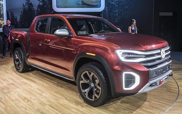 【NYオートショー2018】フォルクスワーゲン、大型SUV「アトラス」をベースにしたピックアップ・トラックを発表!
