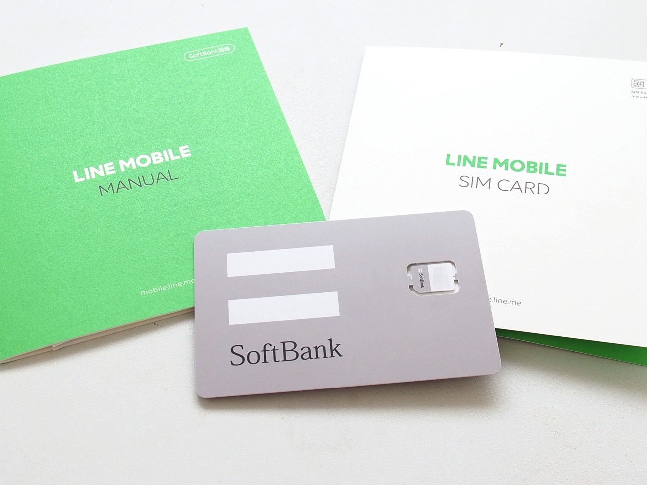 line モバイル データ sim
