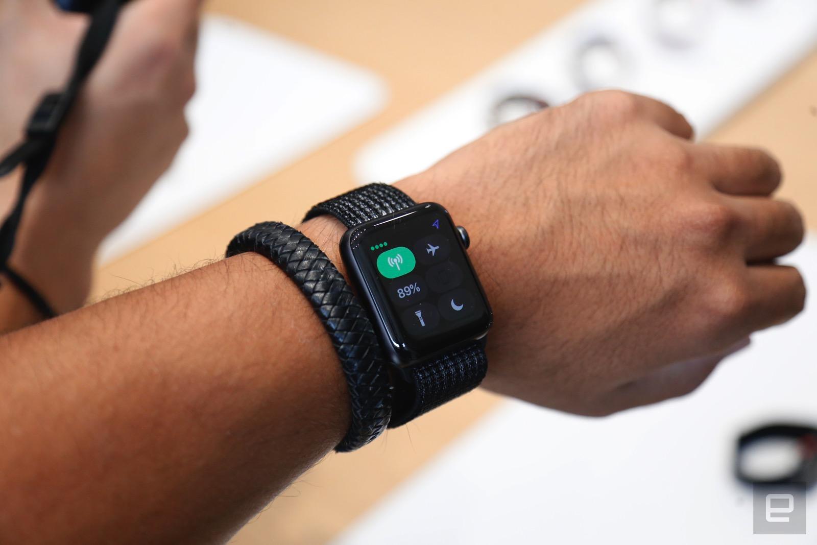 Apple Watch Series 3 的早期軟體可能存在 Lte 連線問題