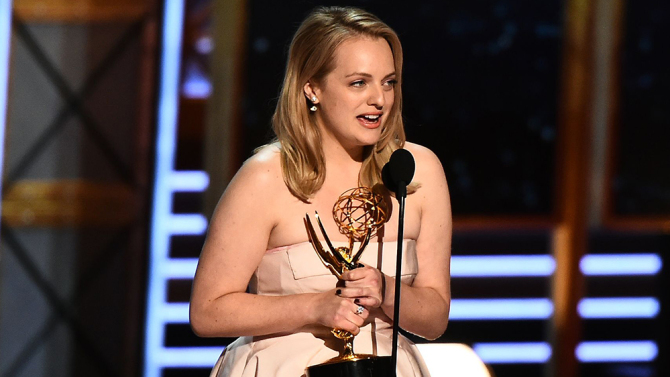Mandatory Credit: Photo by Buckner/Variety/REX/Shutterstock (9064815gp) Elisabeth Moss 69th Primetime Emmy Awards, Show, Los Angeles, USA - 17 Sep 2017