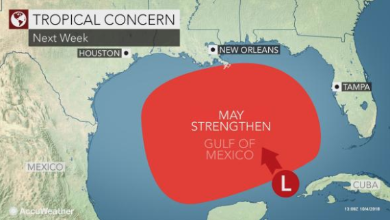 Development chances high for tropical disturbance in Gulf
