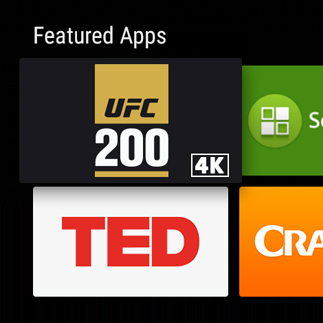 UFC 200 Android TV 4K app