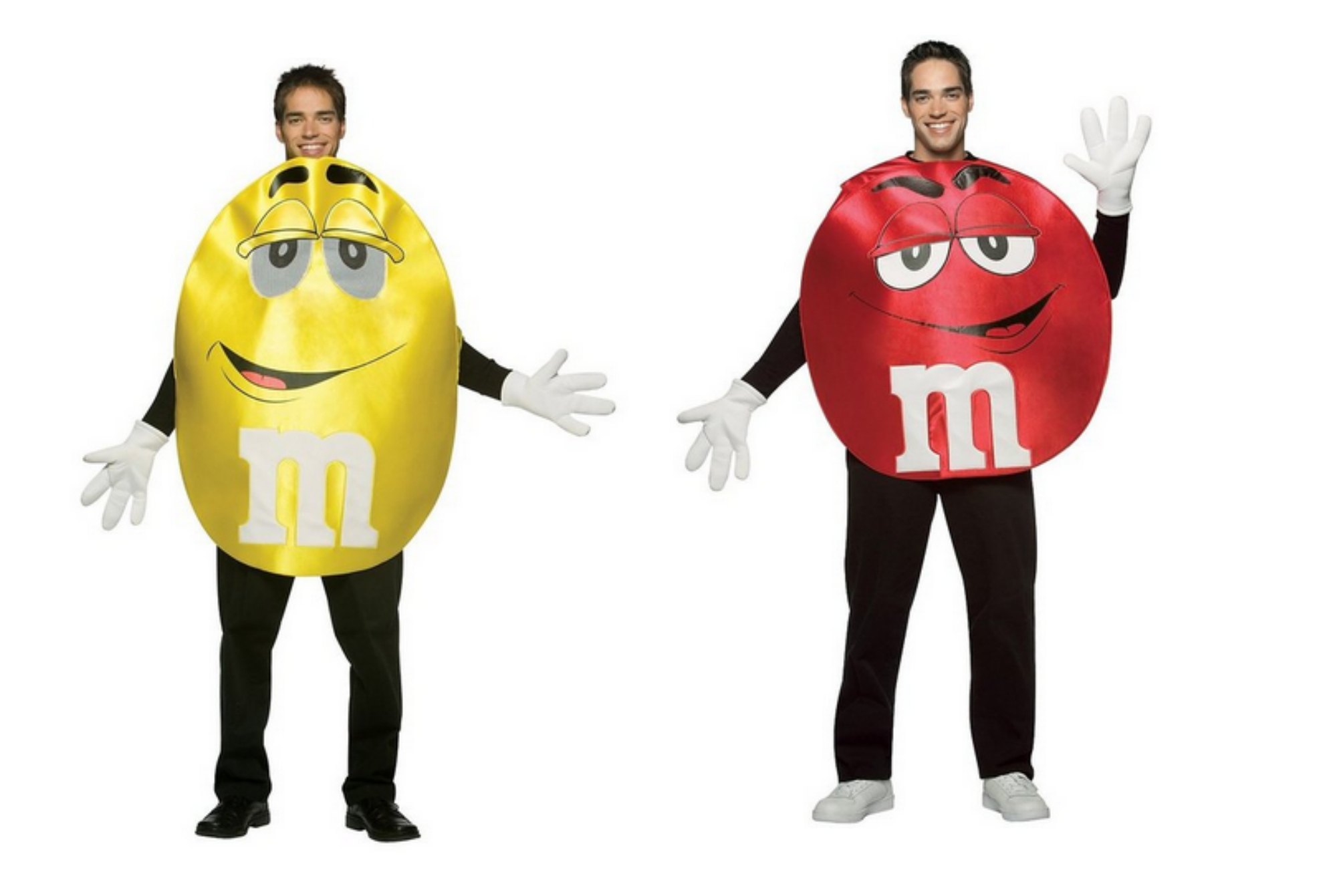 Red and yellow m&ms costumes