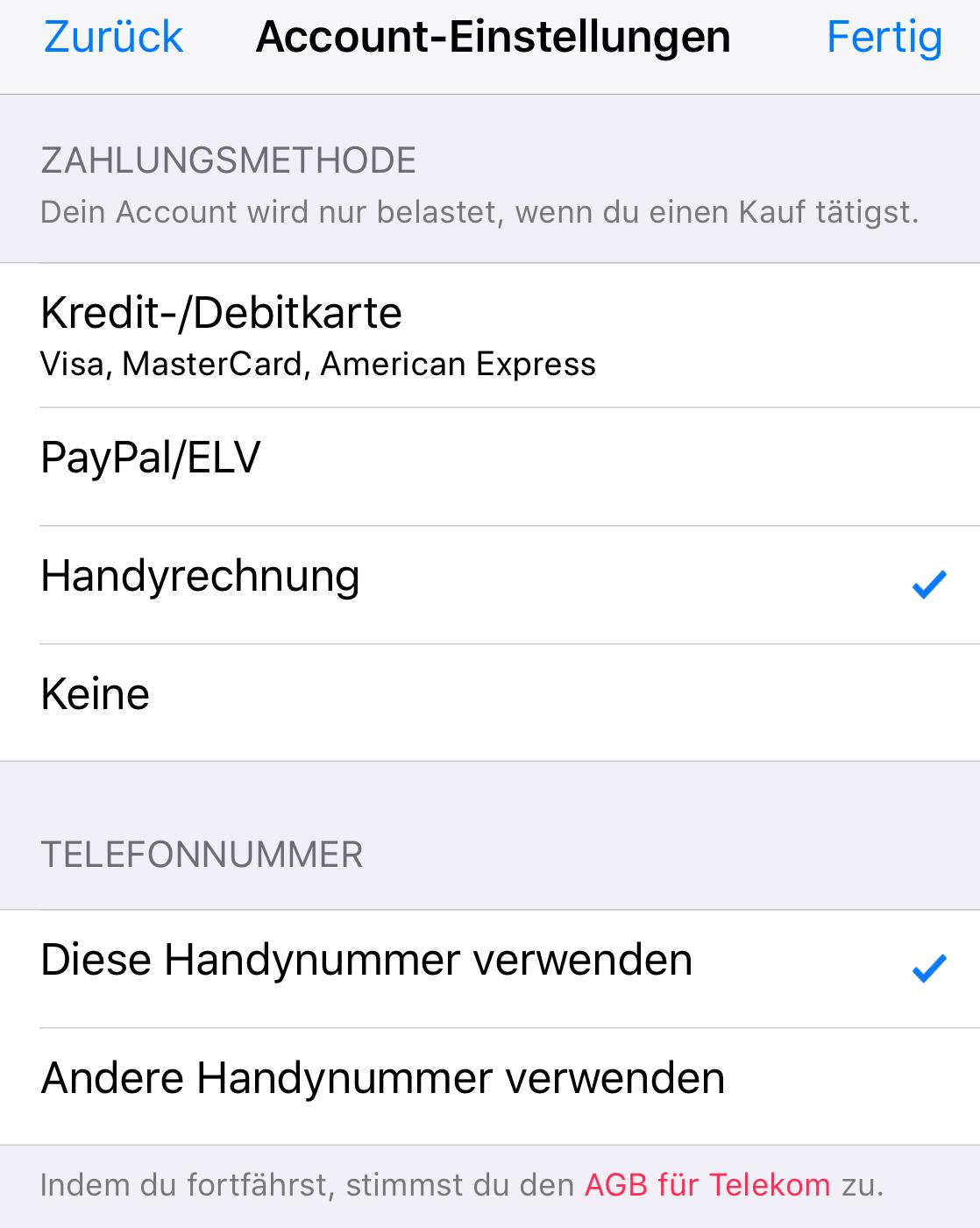 telekom bezahlung im apple app store jetzt auch via handy. Black Bedroom Furniture Sets. Home Design Ideas