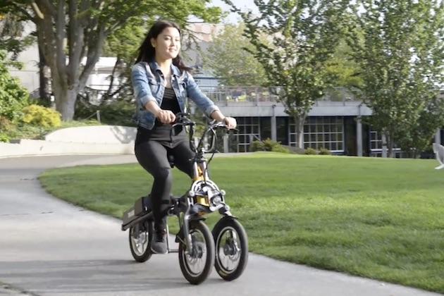 【ビデオ】わずか1秒で折りたたみ可能な電動三輪スクーター「MYLO」