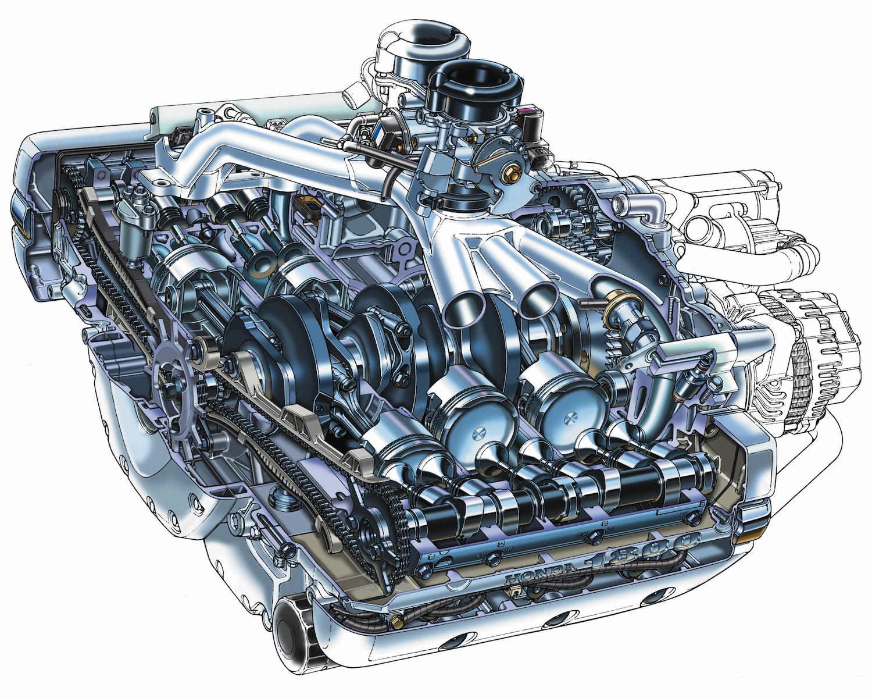 Honda Gold Wing GL1800 Engine.