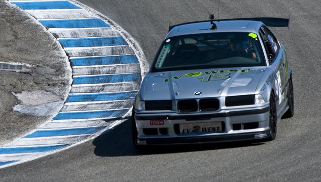 EV West BMW M3 winning its class at 2014 SportElectric TT