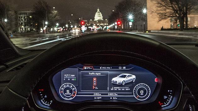 アウディ、信号が青になるタイミングを車内のディスプレイに表示するシステムの運用を米国ワシントンD.C.でも開始