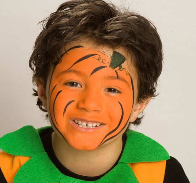halloween face painting tutorial pumpkin