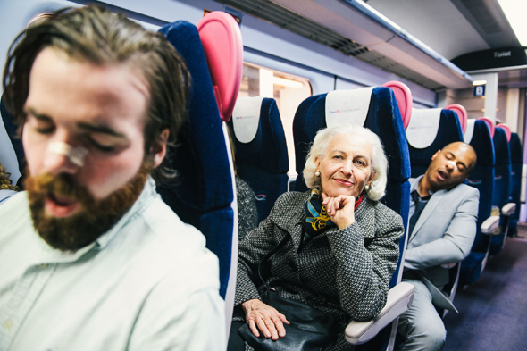 Mandatory Credit: Photo by REX Shutterstock (4677881f) First Great Western helps passengers enjoy a relaxing journey by minimising the snores during National Stop Snoring Week. First Great Western offering free nasal strips to coincide with National Stop Snoring Week, Britain - 19 Apr 2015 To coincide with the start of National Stop Snoring Week, First Great Western is offering free nasal strips to help sufferers of both kinds: those that snore and the surrounding passengers who have to put up with it.