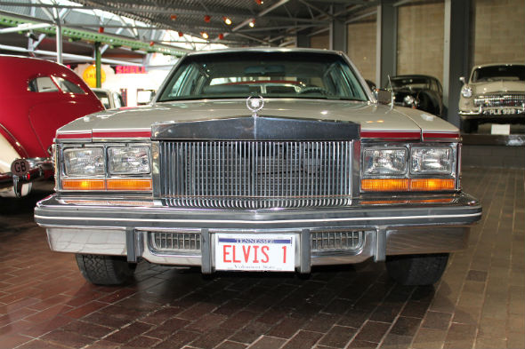 Elvis's Cadillac on display at National Motor Museum