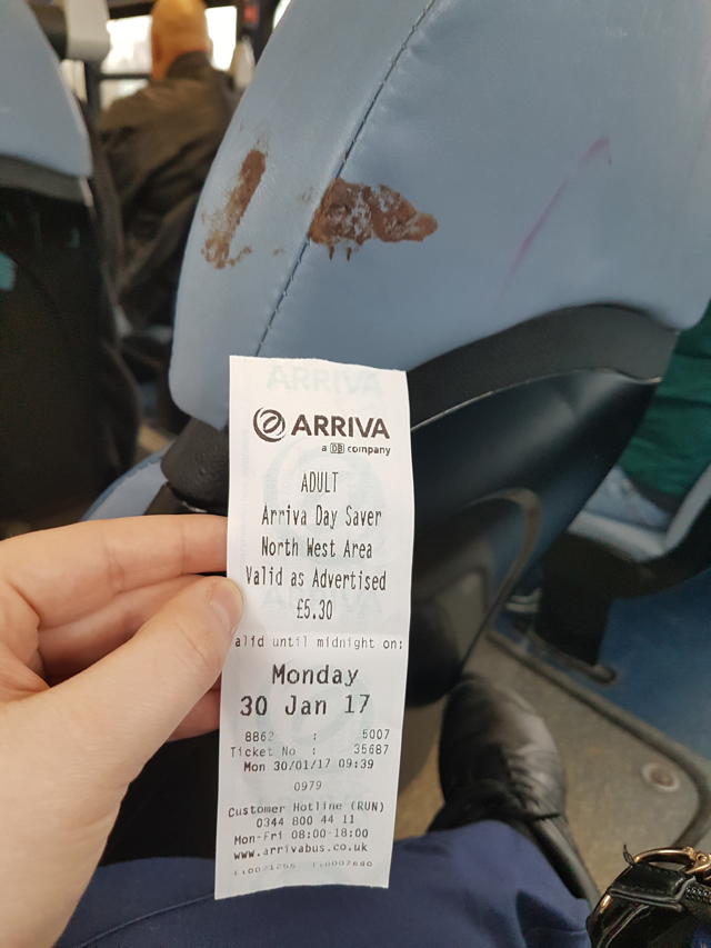 Bus seat smeared with 'poo' for over three months