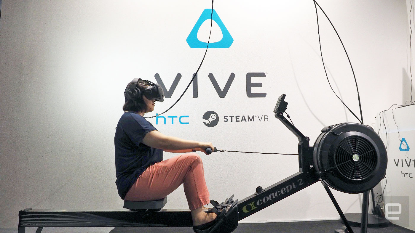 VR rowing turns a workout into a vacation