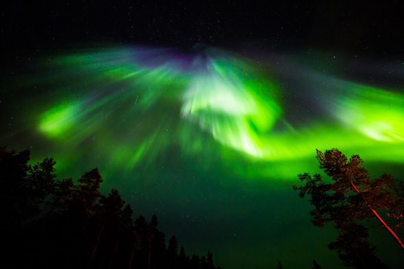 northern lights photos in lapland