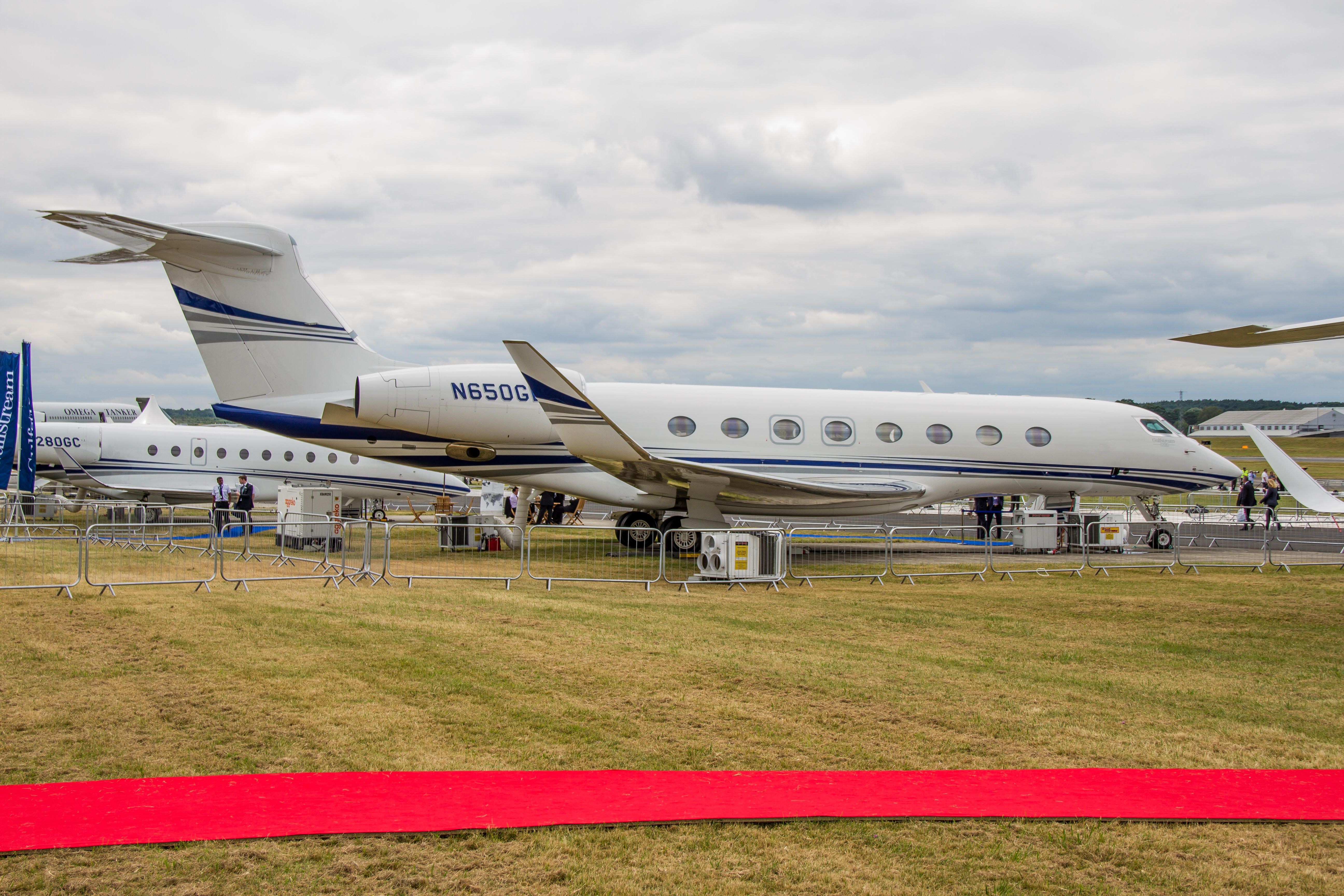 Gulfstream G650 At Farnborough International Air Show July 15th 2014