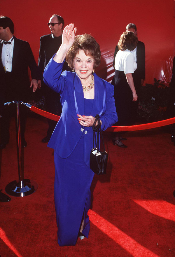 Shirley Temple during The 70th Annual Academy Awards - Red Carpet at Shrine Auditorium in Los Angeles,...