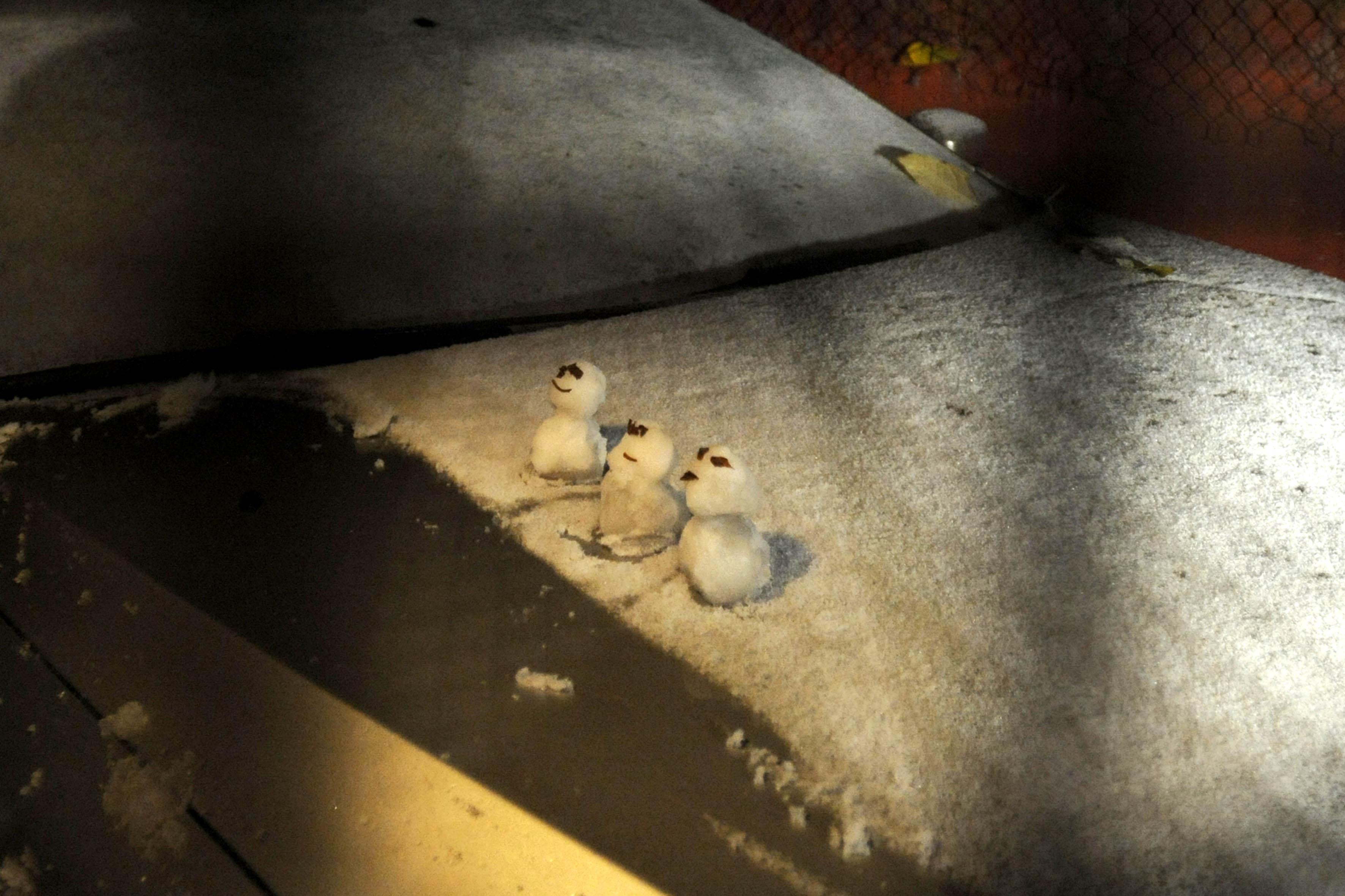 Si tú sientes frío, imagínate Cuajimalpa... Reportan caída de nieve y