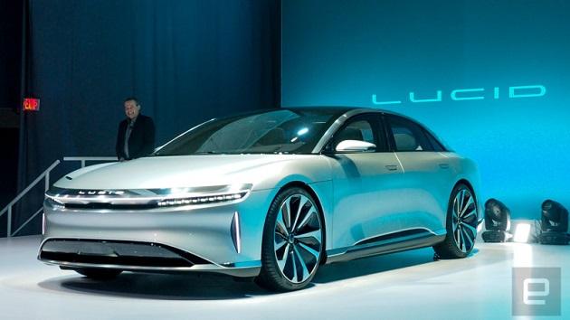 ルーシッド・モーターズ、最高出力1,000馬力の新型高級電気自動車「エア」を初公開