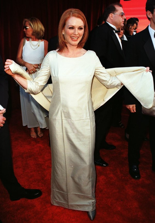 """LOS ANGELES, CA - MARCH 23: Julianne Moore, Best Supporting Actress nominee for """"Boogie Nights,""""..."""