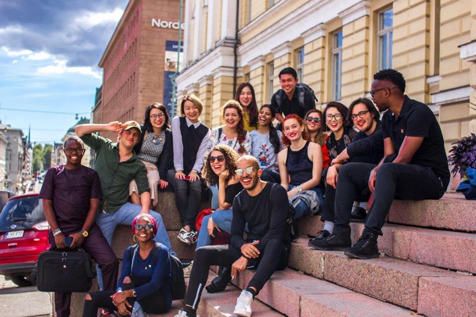 若手ジャーナリストプログラムの参加者たち