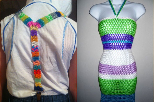 Loom Band Designs From Dresses And Bikinis To Bags And