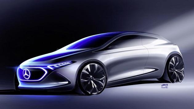 メルセデス・ベンツ、コンパクトな電気自動車「コンセプト EQ A」のスケッチを公開! 2020年以降に市販化予定