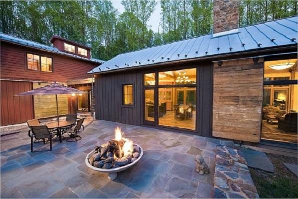 American Dream Builders cabin firepit