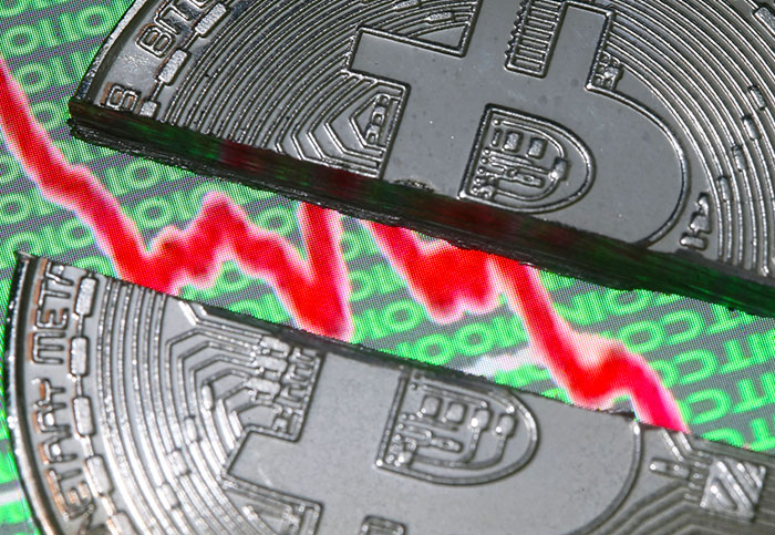 Bitcoin tumbles below $10,000, half of its peak value