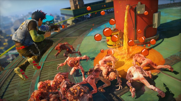 Slide Until You Die In Xbox One S Crazy Sunset Overdrive