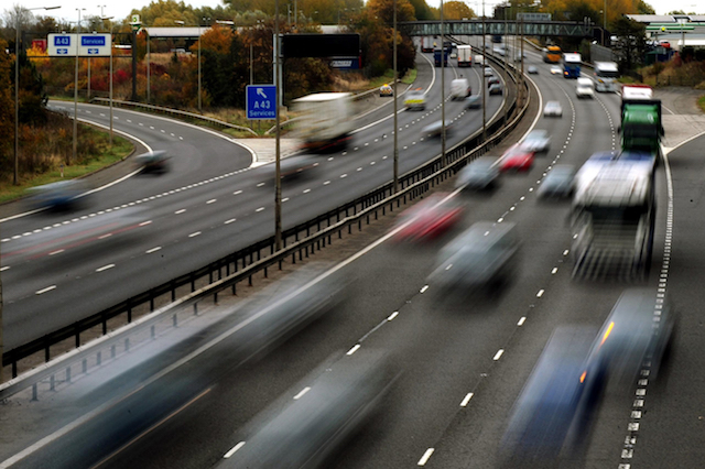 File photo dated 26/10/09 of traffic on a motorway. The introduction of tougher punishments for the most serious speeding offences has been welcomed by motoring groups.