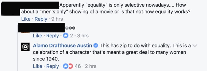 Internet erupts over theater's 'woman-only' screening of Wonder