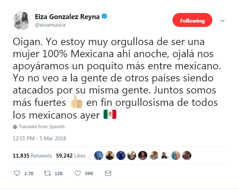 La respuesta de Eiza González a todos los que la