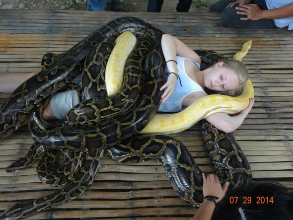 Introducing the zoo offering snake massages