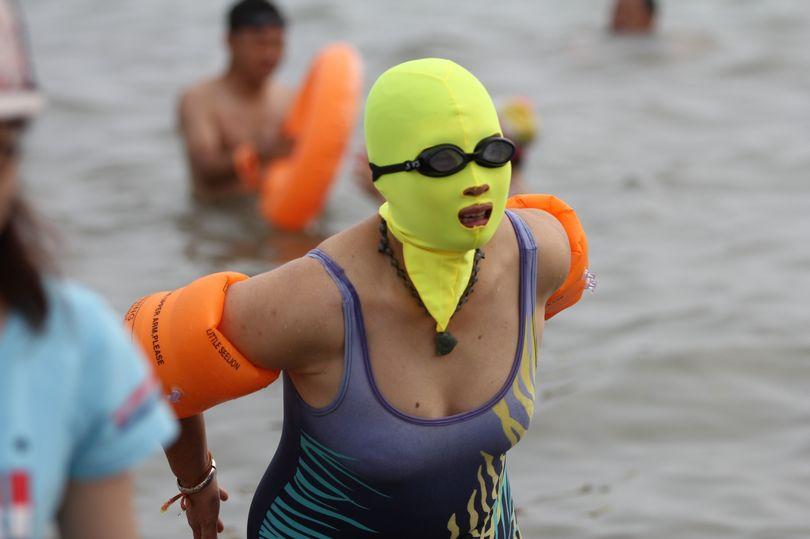 Facekini trend hitting the beaches