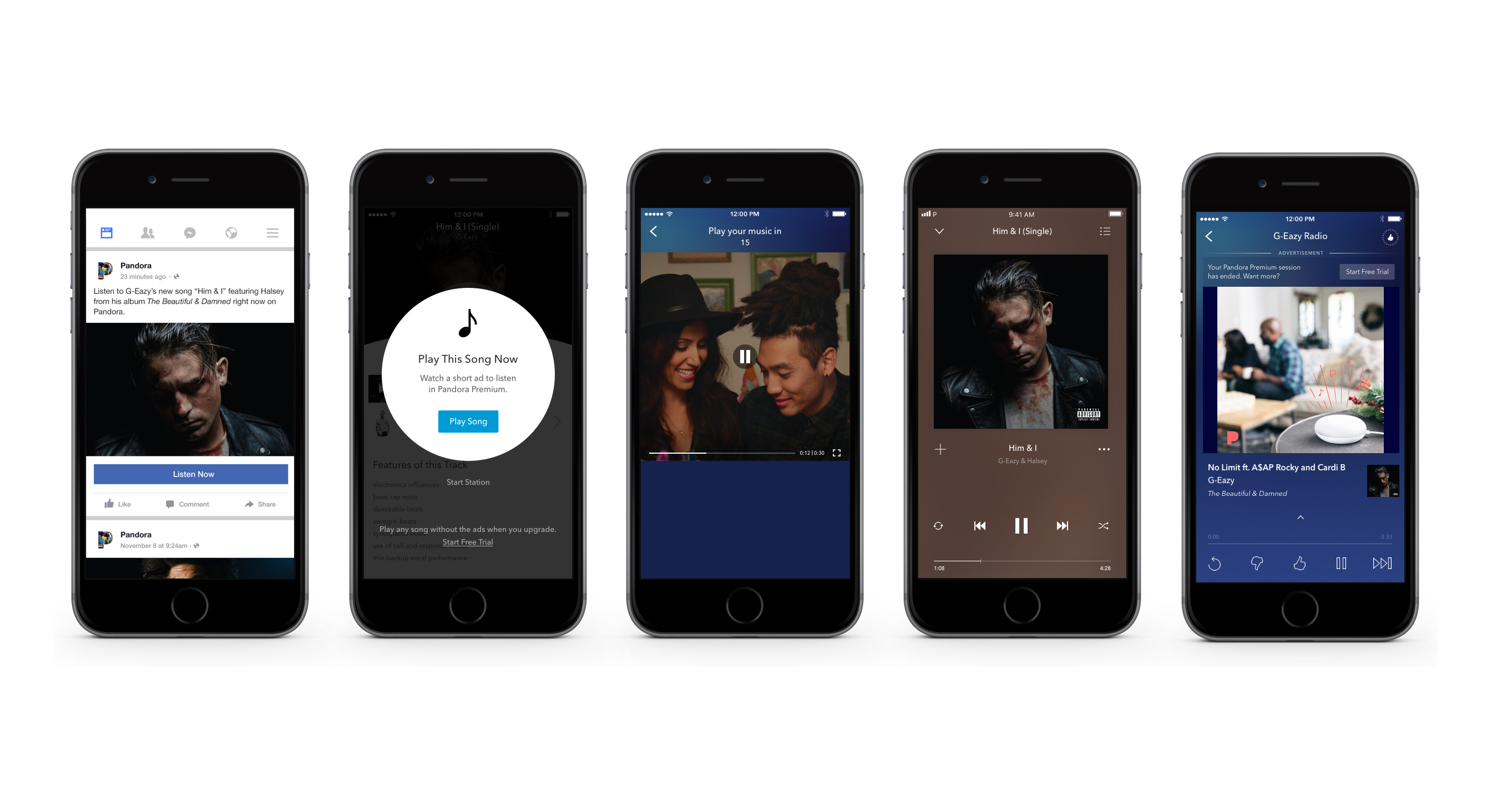 Pandora lets free users sample its on-demand service