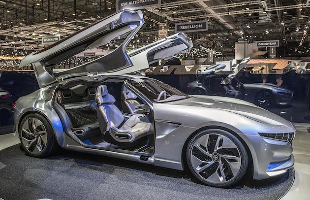 【ジュネーブモーターショー2018】ピニンファリーナ、ガルウイング・ドアの高級電気自動車「HK GT」を発表! アジア市場で市販予定