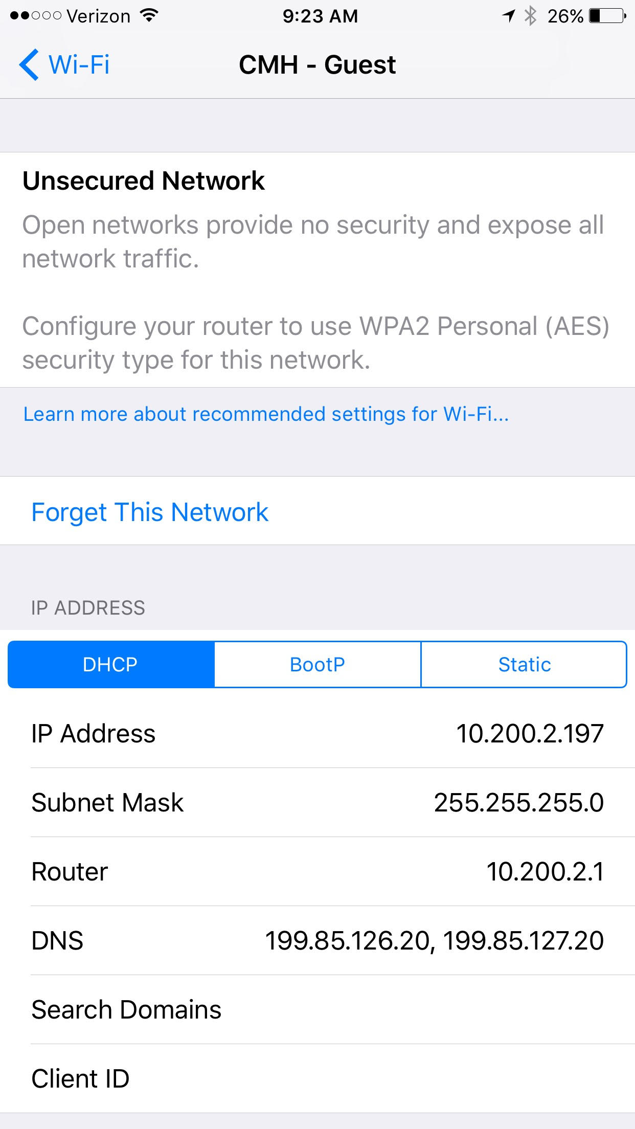 A new iOS 10 feature warns against open WiFi networks