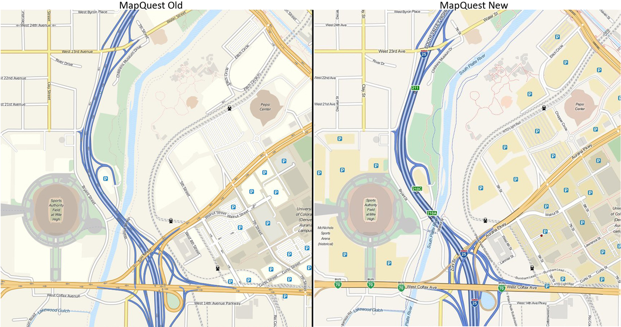MapQuest Open Tiles Old vs New