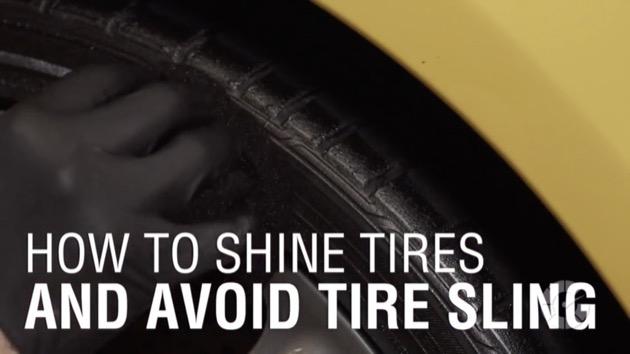 【ビデオ】お洒落は足元から! タイヤを輝かせながらワックスによる汚れを防ぐコツをプロが伝授!