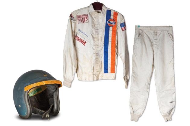 スティーヴ・マックィーンが映画『栄光のル・マン』で着用した、ヘルメットとレーシングスーツがオークションに出品!