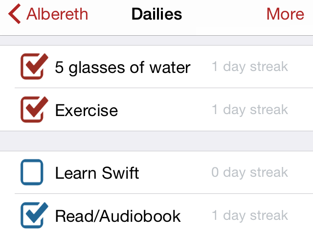 Daily Habits Screen