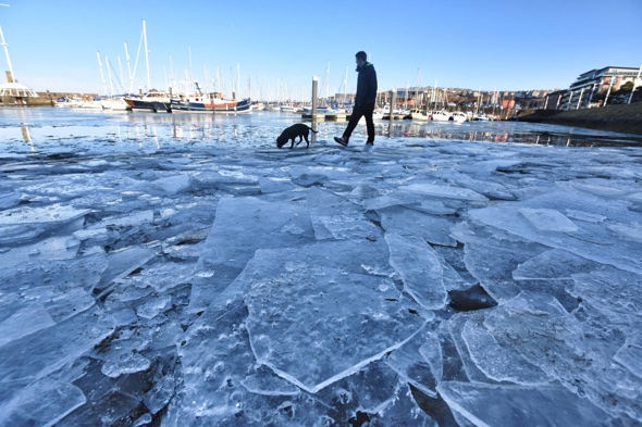 UK weather: The sea is now freezing over - literally