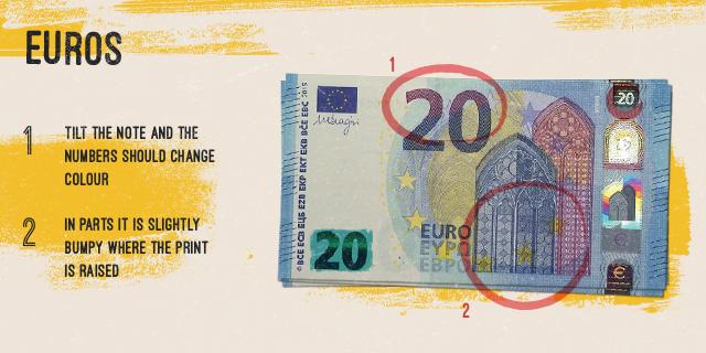 fake euro note