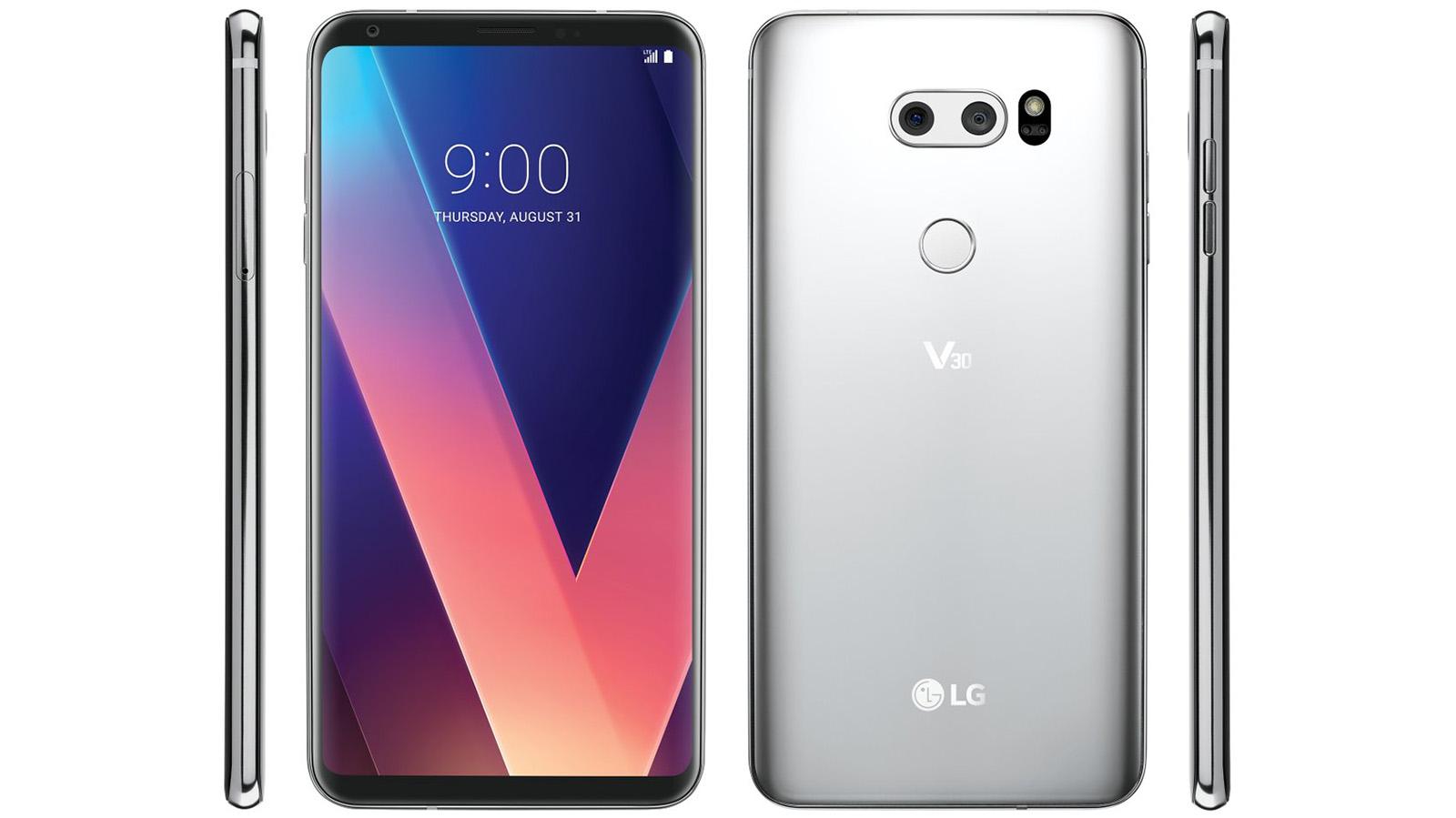 新諜照裡幾乎無邊框的 LG V30 看起來精緻了不少