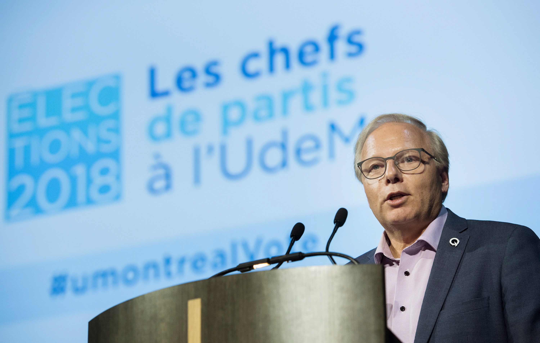 Jean-François Lisée était de passage sur le campus de l'Université de Montréal,